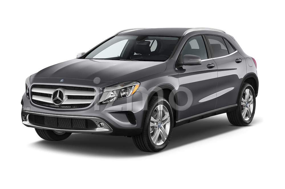 2015 Mercedes Benz GLA 250 4Matic Exclusiefpakket 5 Door SUV Angular Front stock photos of front three quarter view