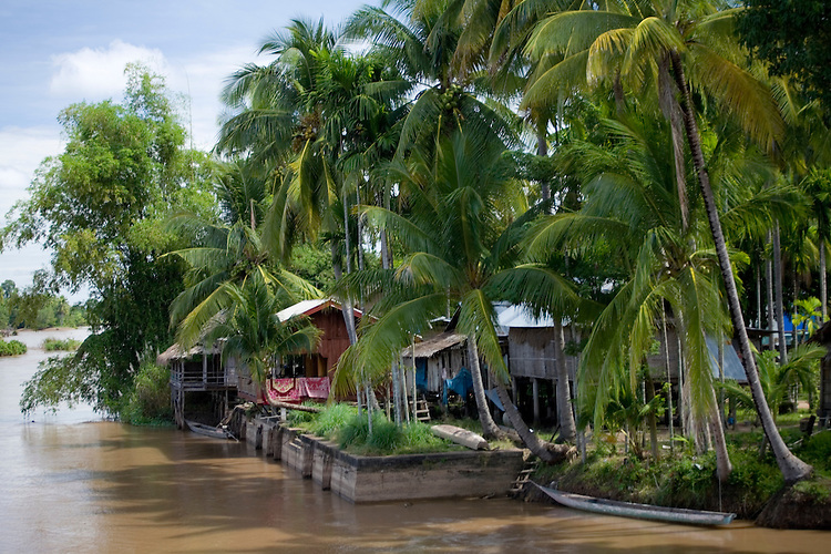 Riverside Lodging at Done Khone Island on the Mekong River in southern Laos