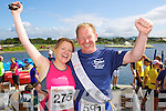from left Sinead Horgan and Bob Walsh  pictured at the Rose of Tralee International 10k Race in Tralee on Sunday.