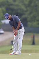 Shubhankar Sharma (IND) putts on the 2nd green during Friday's Round 2 of the 118th U.S. Open Championship 2018, held at Shinnecock Hills Club, Southampton, New Jersey, USA. 15th June 2018.<br /> Picture: Eoin Clarke | Golffile<br /> <br /> <br /> All photos usage must carry mandatory copyright credit (&copy; Golffile | Eoin Clarke)