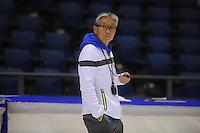 SCHAATSEN: HEERENVEEN: 18-09-2014, IJsstadion Thialf, Topsporttraining, Toshiaki Imamura (trainer Team NewBalance), ©foto Martin de Jong