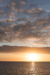 Great Barrier Reef, Australia; sunset skies over the Great Barrier Reef