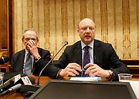 Vincenzo Boccia, presidente Confindustria, durante la conferenza stampa  a margine di Italy is Now and Next