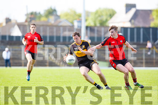 Daithi Casey Dr Crokes takes on Dara Crowley Kenmare during their SFC clash in Fitzgerald Stadium on Sunday