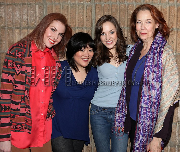"Marla Mindelle, Ann Harada, Laura Osnes & Harriet Harris arriving for the Original Broadway Cast Recording of Broadway's ""Rodgers & Hammerstein's Cinderella? at MSR Studios in New York City on 3/18/2013"