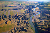 Eroded landscape along Missouri River