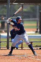 Atlanta Braves Wigberto Nevarez (91) during a minor league spring training game against the Houston Astros on March 29, 2015 at the Osceola County Stadium Complex in Kissimmee, Florida.  (Mike Janes/Four Seam Images)