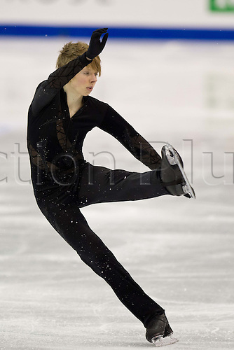 Kevin Reynolds (CAN), MARCH 31, 2012 - Figure Skating : Men Free Skating during the ISU Figure Skating World Championship 2012, at Palais Des Expositions, Nice, France,