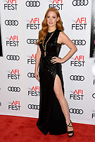 Jessica Chastain at the AFI Fest 2017 Closing Night premiere of &quot;Molly's Game&quot; at the TCL Chinese Theatre, Los Angeles 16 Nov. 2017<br /> Picture: Paul Smith/Featureflash/SilverHub 0208 004 5359 sales@silverhubmedia.com