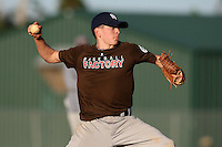 December 28, 2009:  Aaron Muendlein (02) of the Baseball Factory 49ers team during the Pirate City Baseball Camp & Tournament at Pirate City in Bradenton, FL.  Photo By Mike Janes/Four Seam Images