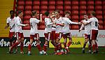 Jake Wright of Sheffield Utd celebrates scoring the first goal during the Professional Development League match at Bramall Lane Stadium, Sheffield. Photo credit should read: Simon Bellis/Sportimage