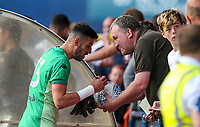 Leeds United's Kiko Casilla signs autographs after the game<br /> <br /> Photographer Alex Dodd/CameraSport<br /> <br /> Football Pre-Season Friendly - York City v Leeds United - Wednesday 10th July 2019 - Bootham Crescent - York<br /> <br /> World Copyright © 2019 CameraSport. All rights reserved. 43 Linden Ave. Countesthorpe. Leicester. England. LE8 5PG - Tel: +44 (0) 116 277 4147 - admin@camerasport.com - www.camerasport.com