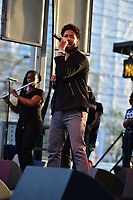Washington, DC - April 14, 2018: Actor/Singer Jussie Smollett performs at Freedom Plaza in Washington, D.C. during the city's Emancipation Day celebration April 14, 2018. Smollett is known for his role as Jamal Lyon on the television series 'Empire.' (Photo by Don Baxter/Media Images International)
