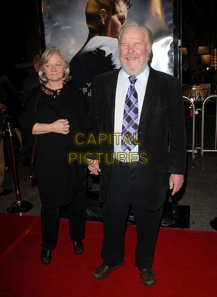 """SANDRA JOHNSON & NED BEATTY.The Paramount Pictures L.A. Premiere of """"Shooter"""" held at The Mann Village Theatre in Westwood, California, USA..March 8th, 2007.full length black suit dress married husband wife .CAP/DVS.©Debbie VanStory/Capital Pictures"""