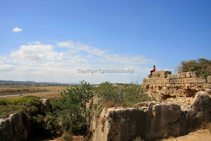 Israel, Carmel coast, Karta ruins (Dustrey), a small Crusader post in Atlit, the stable .