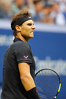 Rafael Nadal creacts during the Men's Final on day 14 of the Us Open 2017 at USTA Billie Jean King National Tennis Center on September 10, 2017 in New York City. (Photo by Marek Janikowski/Icon Sport)