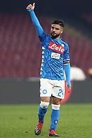 Lorenzo Insigne  Napoli celebrates at the end of the match<br /> Napoli 13-01-2019  Stadio San Paolo <br /> Football Calcio Coppa Italia 2018/2019 round of 16  <br /> Napoli - Sassuolo<br /> Foto Cesare Purini / Insidefoto