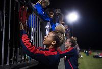Boyds, MD - Saturday September 30, 2017: Estelle Johnson and fans during a regular season National Women's Soccer League (NWSL) match between the Washington Spirit and the Seattle Reign FC at Maureen Hendricks Field, Maryland SoccerPlex.