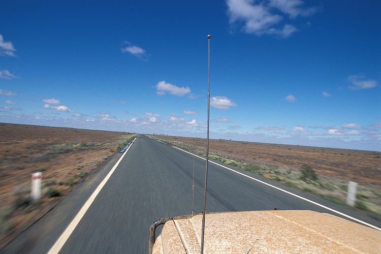 Four wheel drive travelling on outback Australia road