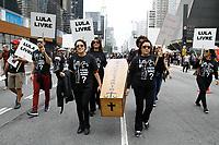 05.08.2018 - Protesto pela libertação de Lula na av Paulista em SP