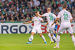 10.08.2019, wohninvest Weserstadion, Bremen, GER, DFB-Pokal, 1. Runde, SV Atlas Delmenhorst vs SV Werder Bremen<br /> <br /> DFB REGULATIONS PROHIBIT ANY USE OF PHOTOGRAPHS AS IMAGE SEQUENCES AND/OR QUASI-VIDEO.<br /> <br /> im Bild / picture shows<br /> Milot Rashica (Werder Bremen #07)<br /> Davy Klaassen (Werder Bremen #30)<br /> Marco Friedl (Werder Bremen #32)<br /> <br /> Foto © nordphoto / Kokenge