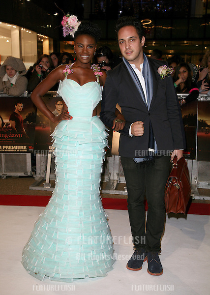 Dan Smith and Shingai Shoniwa arriving for the UK premiere of The Twilight Saga: Breaking Dawn Part 1 at Westfield Stratford City, London. 17/11/2011 Picture by: Alexandra Glen / Featureflash