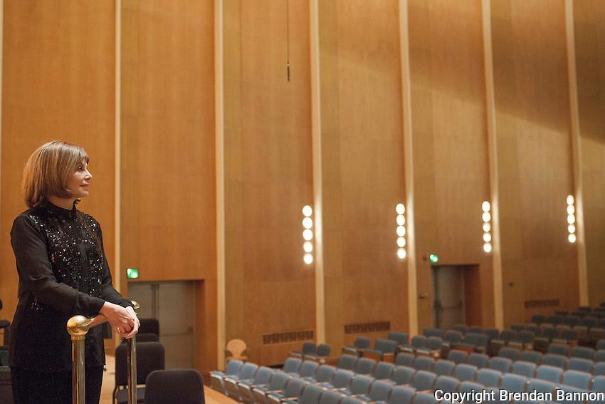 Portrait of Joann Falletta Musical Director of The Buffalo Philharmonic Orchestra since 1999. Kleinhans Music Hall, Buffalo, NY.  10/16/16. Photo by Brendan Bannon