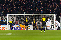27th February 2020; St Jakob Park, Basel, Switzerland; UEFA Europa League Football, FC Basel versus APOEL Nicosia; Tomas De Vincenti of APOEL Nicosia misses a penalty in the second half of the match