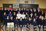 Castleisland Presentation LCVD students presents EUR500 to Michael O'Sullivan and Ellen Miller for the All Ireland Air Ambulance at their school on Thursday which they raised by holding a table quiz and a basketball blitz.