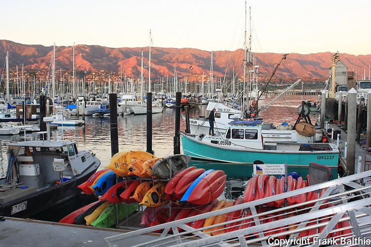 Sunset at Santa Barbara Harbor
