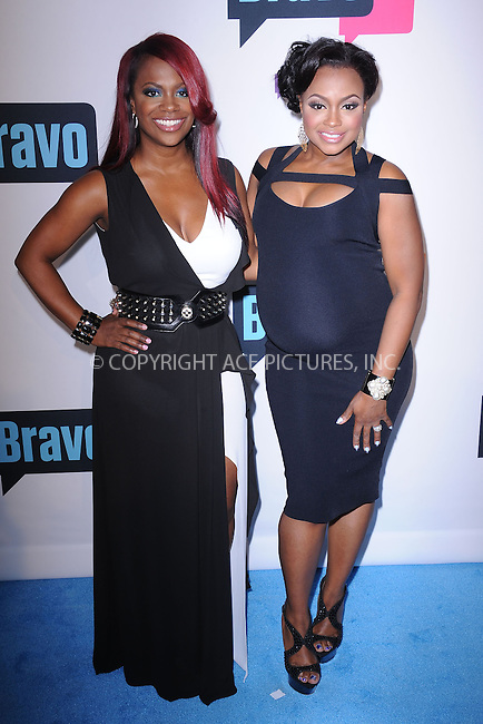 WWW.ACEPIXS.COM . . . . . .April 3, 2013...New York City.... Kandi Burruss and Phaedra Parks attend the 2013 Bravo New York Upfront at Pillars 37 Studios on April 3, 2013 in New York City ....Please byline: KRISTIN CALLAHAN - ACEPIXS.COM.. . . . . . ..Ace Pictures, Inc: ..tel: (212) 243 8787 or (646) 769 0430..e-mail: info@acepixs.com..web: http://www.acepixs.com .
