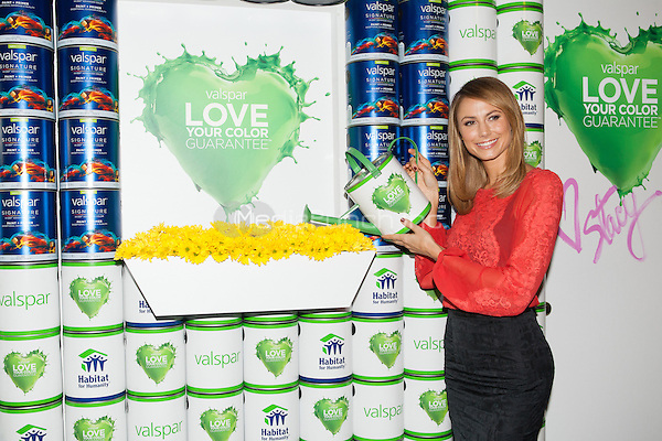 NEW YORK, NY - OCTOBER 24: Actress Stacy Keibler attends The Valspar Love Your Color Guarantee Project Benefiting Habitat For Humanity at Bath House Studios in New York City. October 24, 2012. © Diego Corredor/MediaPunch Inc.
