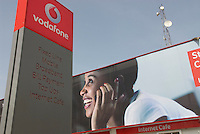 Vodafone aquired the old state fixed line telecoms business, and now runs a range of net cafes across Accra. Total bandwith into these cafes,  is 40MBs..