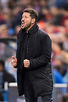 Coach Diego Simeone of Atletico de Madrid reacts during their 2016-17 UEFA Champions League match between Atletico Madrid and FC Rostov at the Vicente Calderon Stadium on 01 November 2016 in Madrid, Spain. Photo by Diego Gonzalez Souto / Power Sport Images