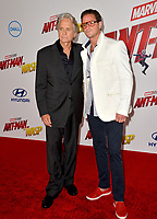 Michael Douglas &amp; Cameron Douglas at the premiere for &quot;Ant-Man and the Wasp&quot; at the El Capitan Theatre, Los Angeles, USA 25 June 2018<br /> Picture: Paul Smith/Featureflash/SilverHub 0208 004 5359 sales@silverhubmedia.com