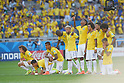 Brazil team group (BRA), JUNE 28, 2014 - Football / Soccer : Players of Btazil in penalty shoot out during the FIFA World Cup Brazil 2014 round of 16 match between Brazil and Chile at Estadio Mineirao in Belo Horizonte, Brazil. (Photo by FAR EAST PRESS/AFLO)
