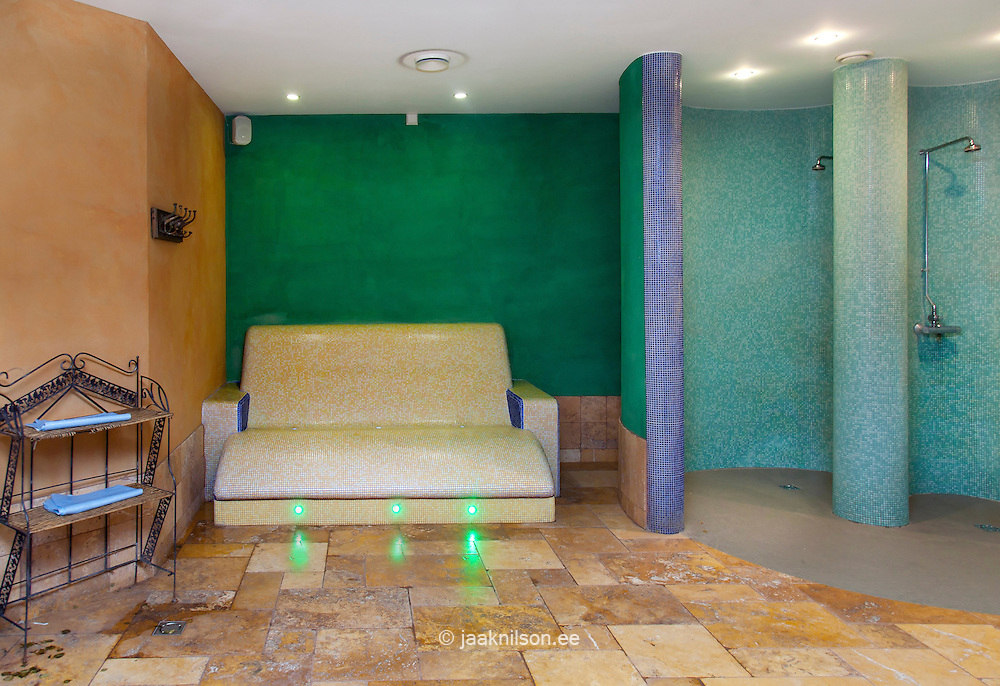 Outstanding Steam Lighted Sauna Room Heated Stone Lounge Chairs And Machost Co Dining Chair Design Ideas Machostcouk