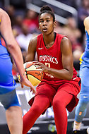 Washington, DC - July 13, 2018: Washington Mystics guard Ariel Atkins (7) looks to shoot the ball during game between the Washington Mystics and Chicago Sky at the Capital One Arena in Washington, DC. The Mystics defeat the Sky 88-72 (Photo by Phil Peters/Media Images International)