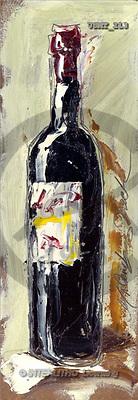 Malenda, STILL LIFES, paintings, winebottle2 m(USMT213,#I#) Stilleben, naturaleza muerta, illustrations, pinturas