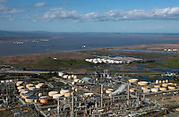 aerial photograph Shell Refinery, Martinez, Contra Costa County, California