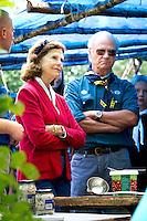 King Carl Gustav and Queen Silvia. Photo: Mikko Roininen / Scouterna