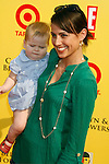 "SANTA MONICA, CA. - November 16: Actress Constance Zimmer and son arrive at the 11th Anniversary Of P.S. Arts ""Express Yourself 2008"" at the Barker Hanger at the Santa Monica Airport on November 16, 2008 in Santa Monica, California."