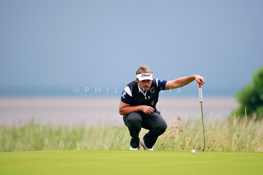 Victor DUBUISSON (FRA) in action during the third round of the 143rd Open Championship played at Royal Liverpool Golf Club, Hoylake, Wirral, England. 17 - 20 July 2014 (Picture Credit / Phil Inglis)