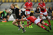 9th June 2017, Westpac Stadium, Wellington, New Zealand; International Womens Rugby; New Zealand versus Canada;  New Zealands Kendra Cocksedge (L) is tackled by Canada's Amanda Thornborough