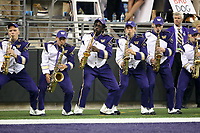 SEATTLE, WA - SEPTEMBER 16:  Washington band members during the football game between the Washington Huskies and the Fresno State Bulldogs on September 16, 2017 at Husky Stadium in Seattle, WA. Washington won 63-7 over Montana.