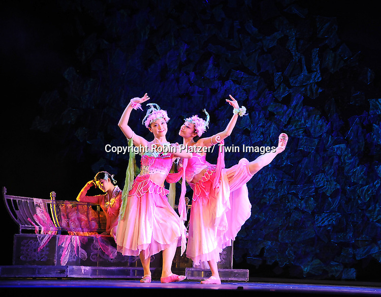"The dancers dancing with The China Jinling Dance Company of Nanjing in "" The Peony Pavilion"" on January 5, 2012 at the David Koch Theatre in Lincoln Center."