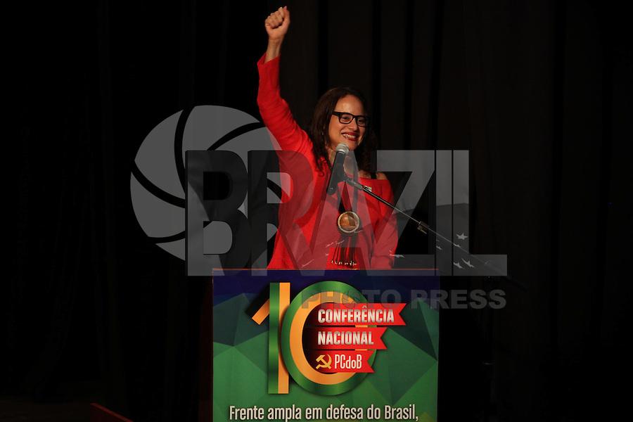 SÃO PAULO, SP - 29.05.2015 - DILMA-SP - Presidente do PC do B, Luciana Santos, na abertura da 10ª Conferência Nacional<br /> do PCdoB, no bairro da Vila Mariana, zona Sul de São Paulo, nesta sexta-feira (29). (Foto: Douglas Pingituro/Brazil Photo Press)