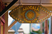 Mandala Ethnic Arts sign in downtown Paia