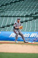 Alex Toral (20) of Archbishop McCarthy High School in Davie, Florida during the Under Armour All-American Game presented by Baseball Factory on July 23, 2016 at Wrigley Field in Chicago, Illinois.  (Mike Janes/Four Seam Images)