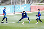 Spain's David De Gea, Sergio Rico and Kepa Arrizabalaga during training session. March 22,2017.(ALTERPHOTOS/Acero)